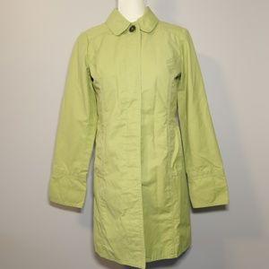 Eddie Bauer Lime Green Trench/Rain Coat - XS